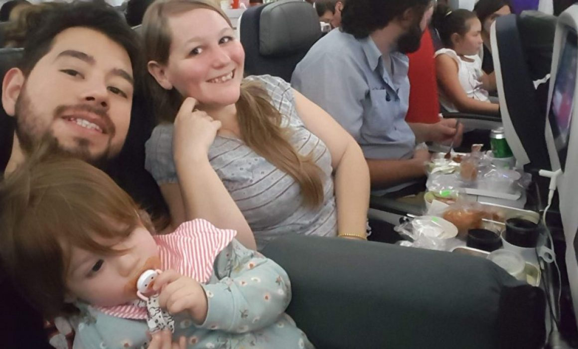 On the plane with a baby